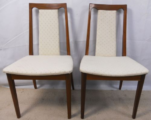 Pair Teak Upholstered Dining Chairs by G Plan